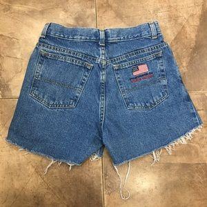 VTG Polo Ralph Lauren Denim Cut Off Shorts 25